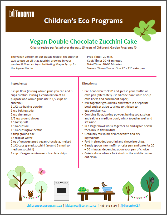 Vegan Double Chocolate Zucchini Cake