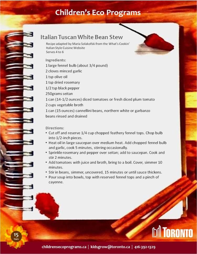 Italian Tuscan White Bean Stew