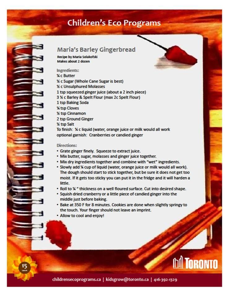 Marias Barley Gingerbread