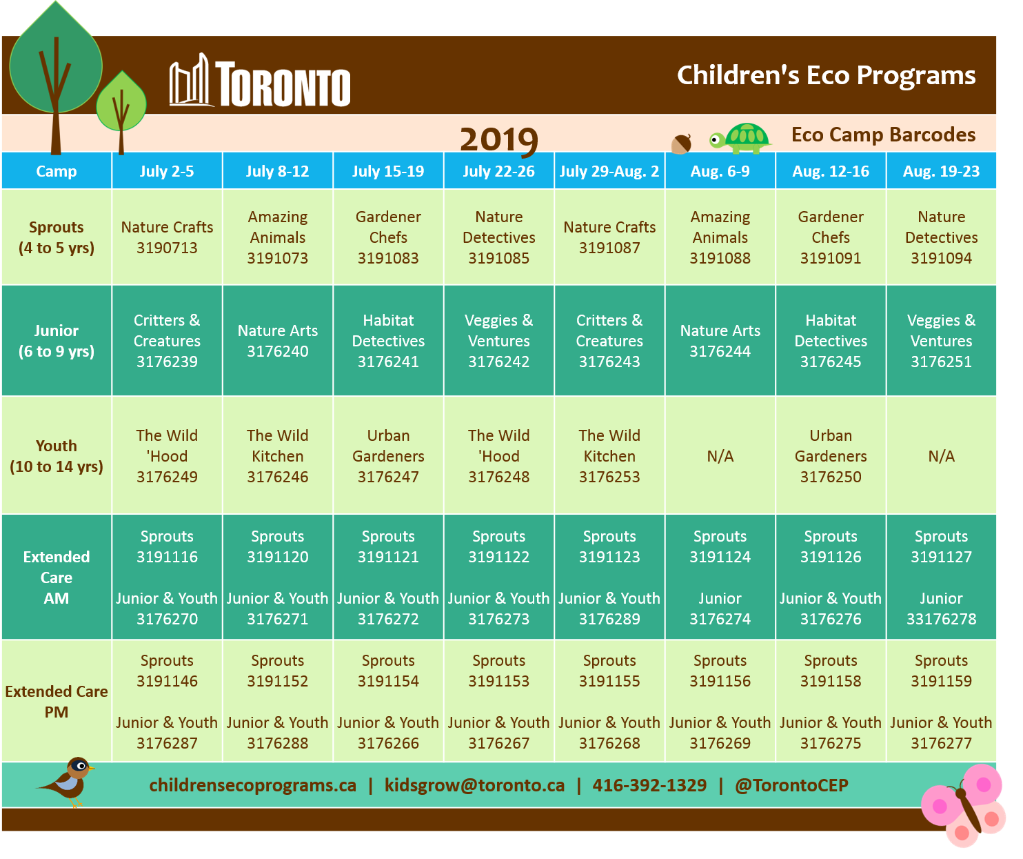 Eco Camp Barcodes 2019